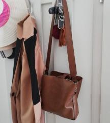 bijou brigitte valódi bőr barna táska
