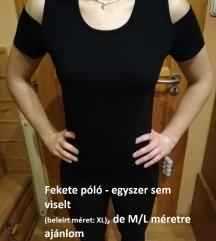 Fekete vadonatúj váll nélküli póló (M/L)