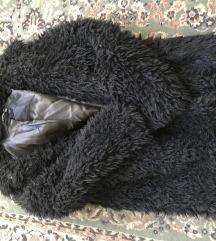 Fekete Reserved Teddy Coat műszőrme kabát
