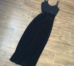 Fekete nyári maxi ruha