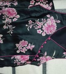 virágmintás selyemruha