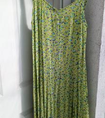 Vintage virágos zöld ruha M/L