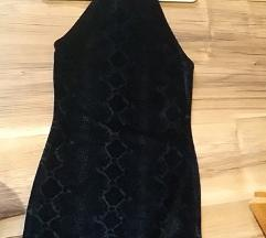 H&M fekete bársony ruha