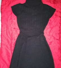 Fekete, kötött tunika, ruha