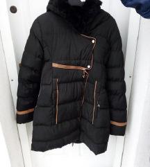 !TÉLI AKCIÓ! újszerű fekete téli kabát XL/XXL