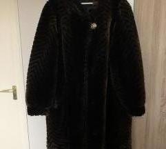Hosszú műszőrme kabát