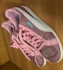 Puma rózsaszín csillámos cipő
