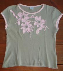 M, 38 - New Look virágos zöld póló, felső