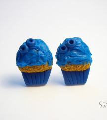 Áfonyás muffin fülbevaló