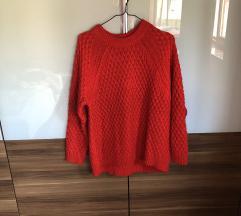H&M oversize kötött pulóver