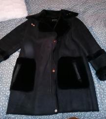 Fekete bélelt oversize kabát