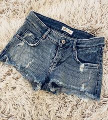 Zara Low-Rise Denim Shorts