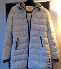 Bézs színű steppelt kapucnis téli dzseki
