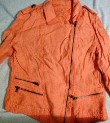 Élénk lazac színű Olsen tavaszi biker kabát