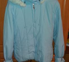 Női kabát halvány kék L.-es