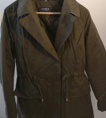 Limited olajzöld steppelt belsejű parka kabát