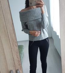 Vállejtős pulóver
