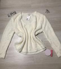 V nyakú kötött pulóver/CIMKÉS/