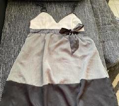 Amisu nyári elegáns pántos masnis ruha XS-S