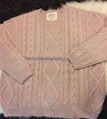 Púderrózsaszín pulóver