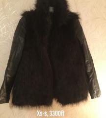 Szőrme bőr kabát
