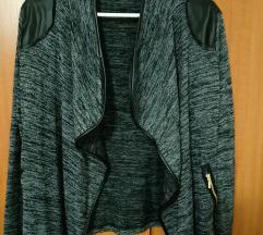 Fekete-szürke mintás pulóver