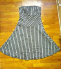 Vero Moda csíkos  pánt nélküli ruha M/38