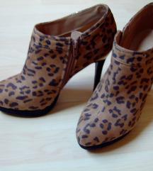 Női leopard bokacipő