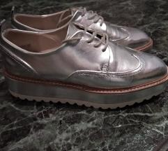 Zara platform ezüst cipo