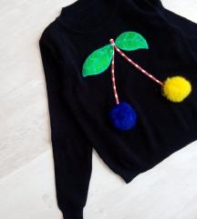 Új cserkós pompomos pulóver XS