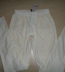 Calzedonia törtfehér csipkés leggings új S és M