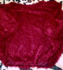 Új szőrmés bordó pulcsi kb. M-L-Xl