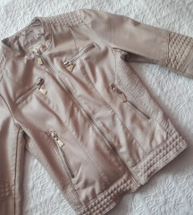 Mayo pasztell mű bőr dzseki kabát