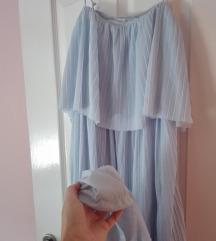 Babakék plisszirozott maxi ruha