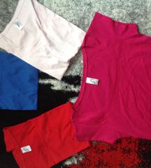 Új rövidujjú  kék,púder,piros, magenta s-es