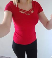 Tallys piros rovidujjú póló