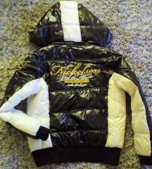 Egyedi fekete-fehér-arany olasz Nickelson kabát