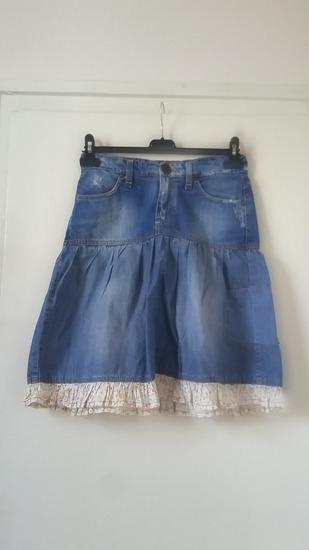 Retro Jeans farmer szoknya, XS-es