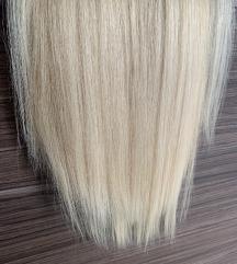 Tresszelt szőke póthaj (130g, 50cm)