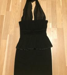 Gyönyörű alkalmi fekete elegáns peplum ruha