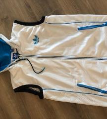 Adidas férfi fehér ujjatlan csuklyás sportos felső