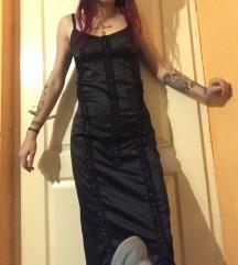 Elegáns fekete fűzős ruha