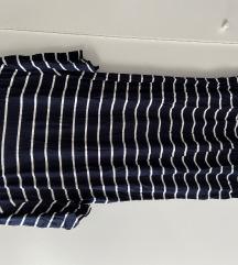 H&m fehér-kék csíkos ruha / tunika, új, címkés