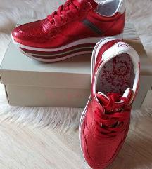 Bugatti metál piros cipő
