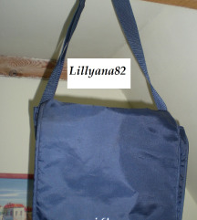 Kék szuper pakolós táska 30 x 30x 13 cm sok fiókos