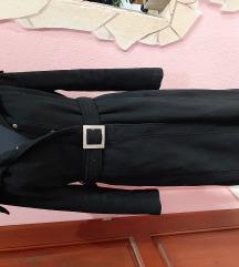 Fekete szövet kabát S