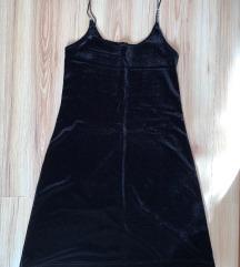 BEX Line bársony fekete mini ruha M