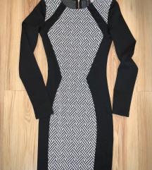 H&M ÚJ fekete fehér mini ruha bodycon 32