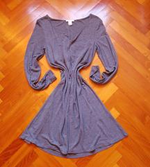H&M szürke hosszú ujjú téli ruha XS-S