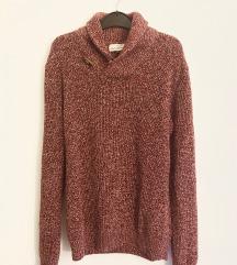 H&M férfi bordó kötött pulóver, L-es